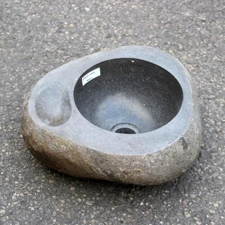 Vasque à poser en galet de rivière 35-33 cm porte savon (GAL35-002-SAVON)