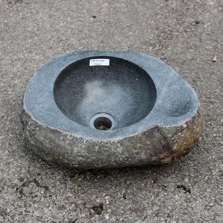 Vasque à poser en galet de rivière 40-32 cm porte savon (GAL35-005-SAVON)