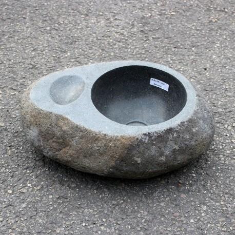 Vasque à poser en galet de rivière 43-34 cm porte savon (GAL35-006-SAVON)