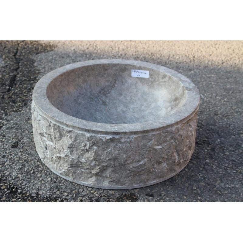 vasque poser 40 cm en pierre naturelle marbre mar 40. Black Bedroom Furniture Sets. Home Design Ideas