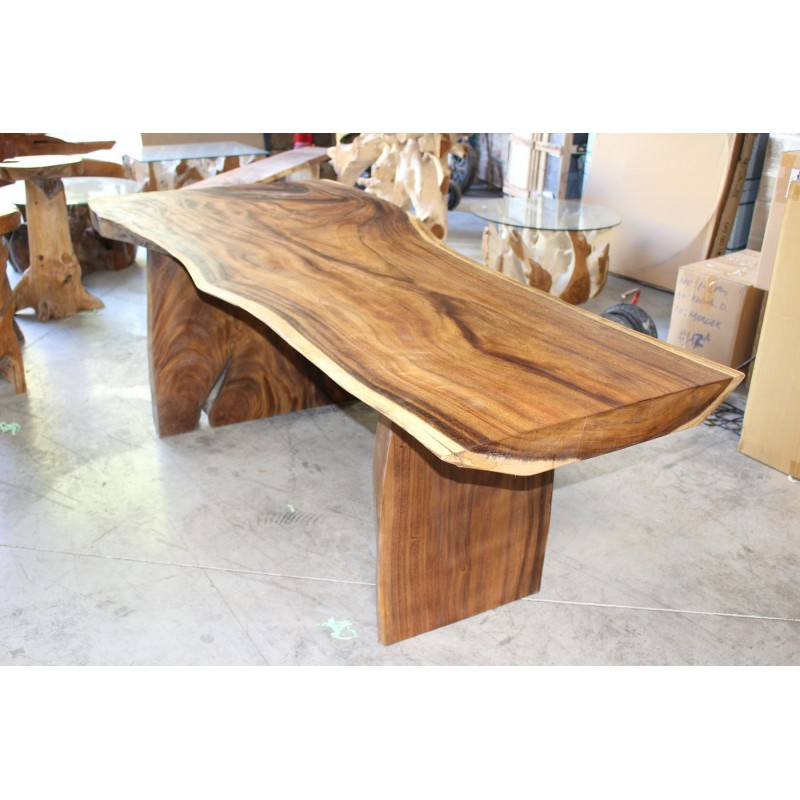Table en bois de Suar 220cm (SUAR06220)
