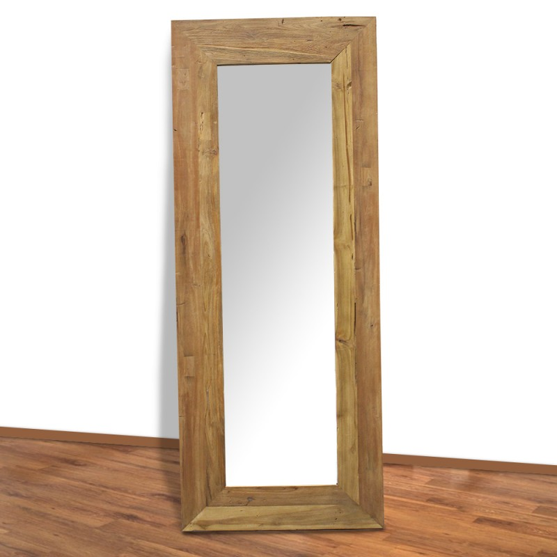 miroir en teck massif 200 cm mrc007