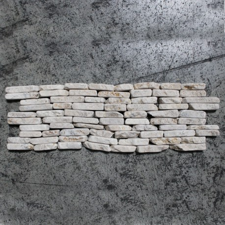 Mosaïque Frise 10x30 otago or marble white (MOS023)