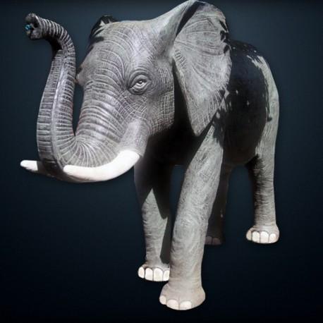 Statue Eléphant naturelle H200 fibrociment (STA-CIM008)