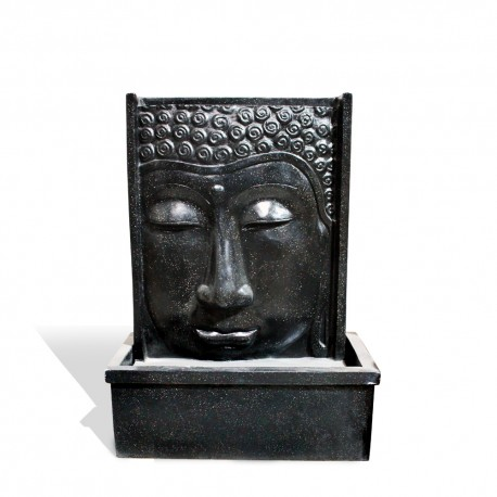 Fontaine débordement visage bouddha S noir (CIM5006NOIR)