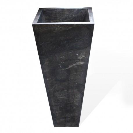 Vasque carré sur pied marbre (VASQ40PC)