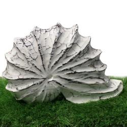 Déco coquille escargot en bois blanc vieilli (DEC-COQ)
