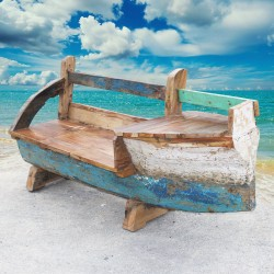 Banc véritable barque de bateau (BARQUE-002)