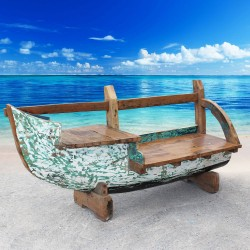 Banc véritable barque de bateau (BARQUE-003)