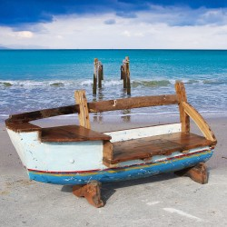 Banc véritable barque de bateau (BARQUE-007)