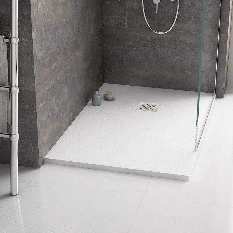receveur de douche extra plat en r sine 120 140 170 x 90 blanc rec blanc. Black Bedroom Furniture Sets. Home Design Ideas
