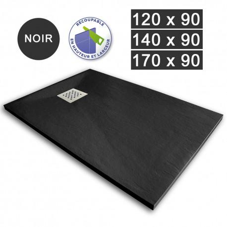 Receveur de douche extra-plat en résine 120/140/170 x 90 Noir (REC-NOIR)