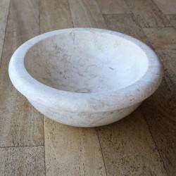 Vasque à poser ou encastrer Ø40 cm marbre full polish (MARØ40-ENCAS-CR)