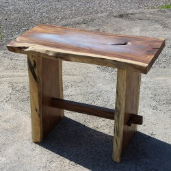 Table haute en Suar massif 140x70 cm (SUAR3504)