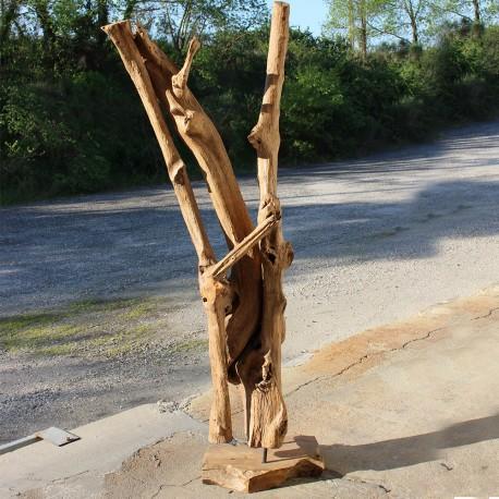 Sculpture d''une racine en Teck H205 (RAC009)