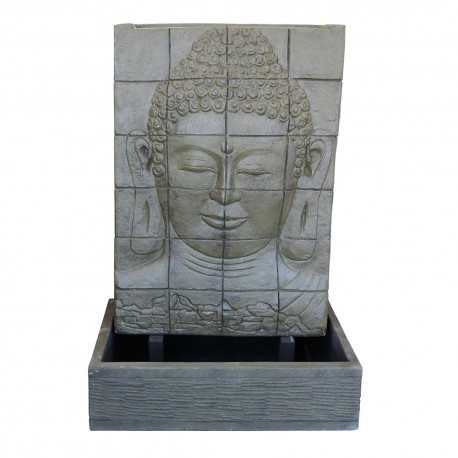 Fontaine débordement visage bouddha L marron (CIM5009)