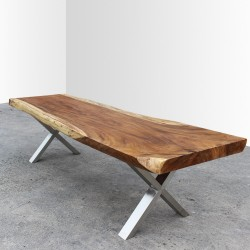 Table en bois de Suar 300cm (SUAR22-300)