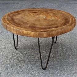 Table basse ronde en Suar Ø70 (SUAR1075)