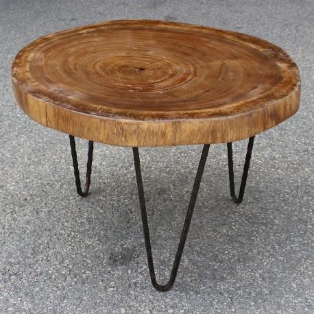Table basse ronde en Suar Ø70 (SUAR1076)