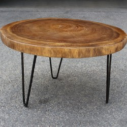Table basse ronde en Suar Ø70 (SUAR1077)