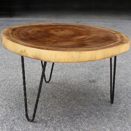Table basse ronde en Suar Ø70 (SUAR1078)