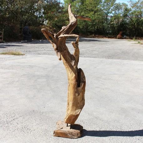 Sculpture d''une racine en Teck H188 (RAC016)