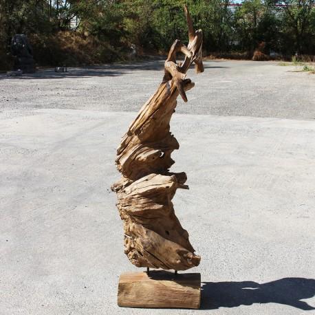 Sculpture d''une racine en Teck H170 (RAC017)