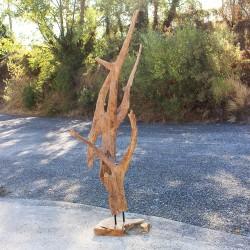 Sculpture d''une racine en Teck H197 (RAC027)
