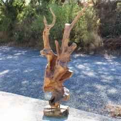 Sculpture d''une racine en Teck H184 (RAC032)