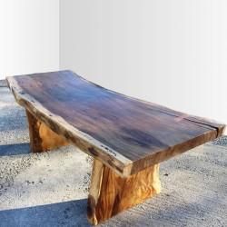 Table en bois de Suar 220cm (SUAR19-220)