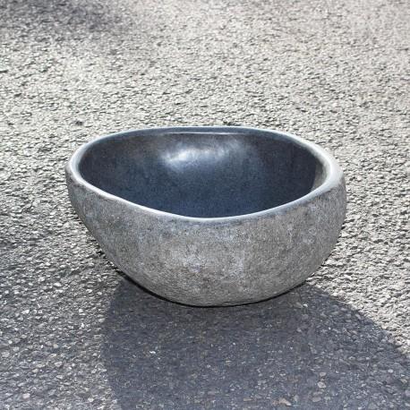 Vasque à poser en galet de rivière 33-31 cm (GAL35-006-SLIM)