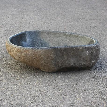 Vasque à poser en galet de rivière 48-34 cm (GAL45-002-SLIM)