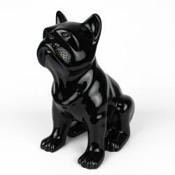 Statue Bulldog noir laquée (RES002NO)