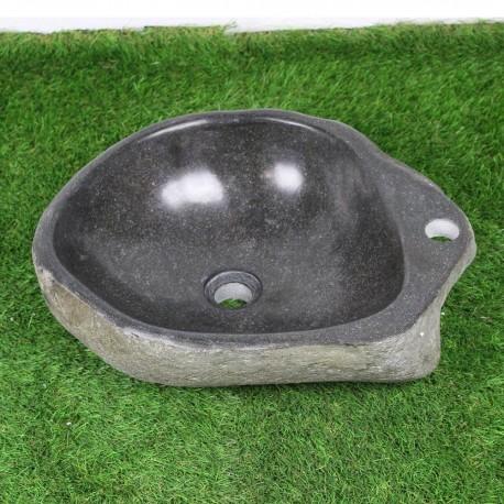Vasque à poser en galet de rivière 47-38 cm et perçage robinet (GAL45-010R)