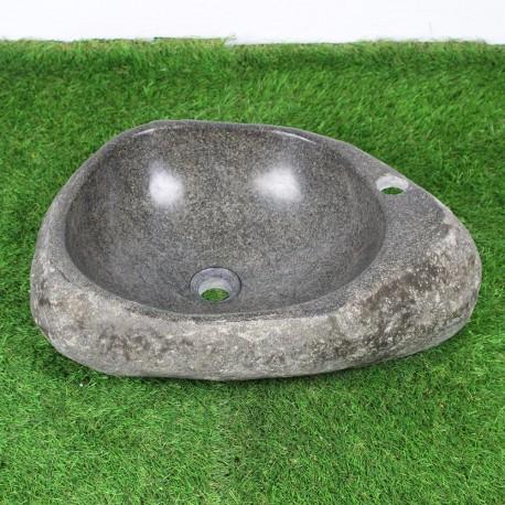 Vasque à poser en galet de rivière 53-38 cm et perçage robinet (GAL45-011R)