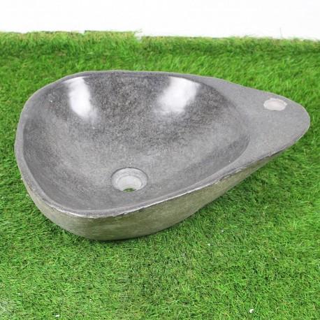 Vasque à poser en galet de rivière 50-40 cm et perçage robinet (GAL45-015R)