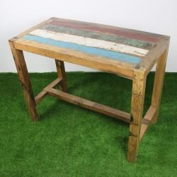 Table haute en Teck de bois de bateau 140x70 cm (TEC3013-011)