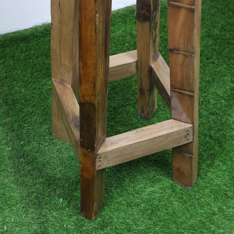 tabouret haut en teck bois de bateau tec3020 012. Black Bedroom Furniture Sets. Home Design Ideas