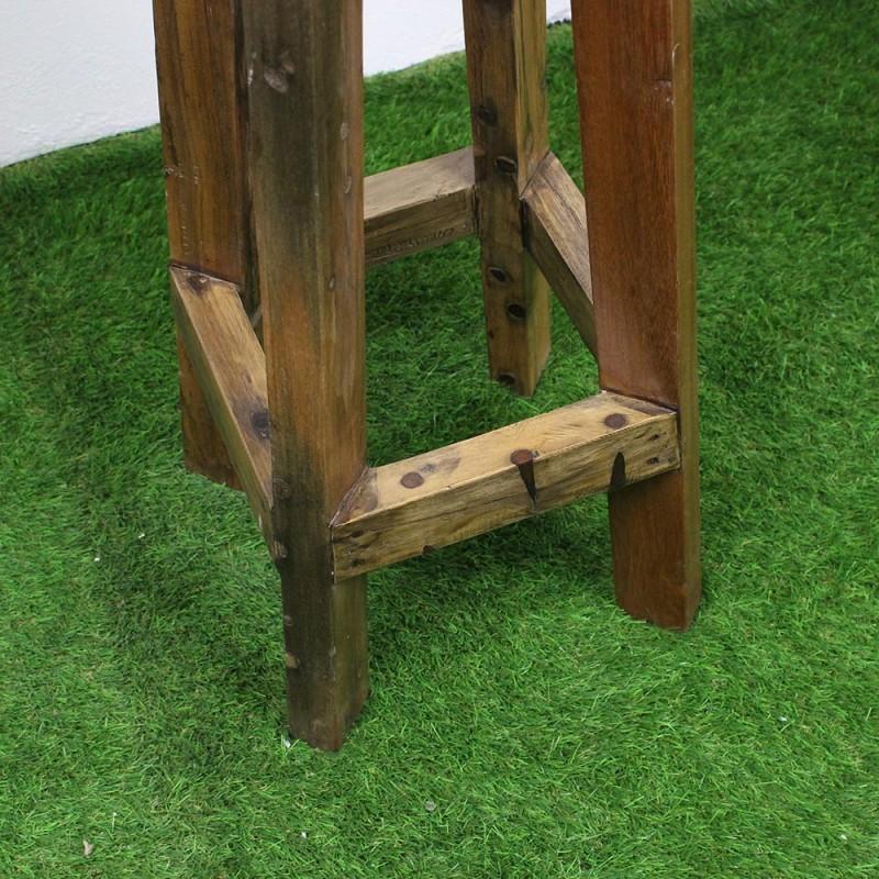 tabouret haut en teck bois de bateau tec3020 013. Black Bedroom Furniture Sets. Home Design Ideas