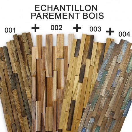 LOT 4 échantillons Parement en bois