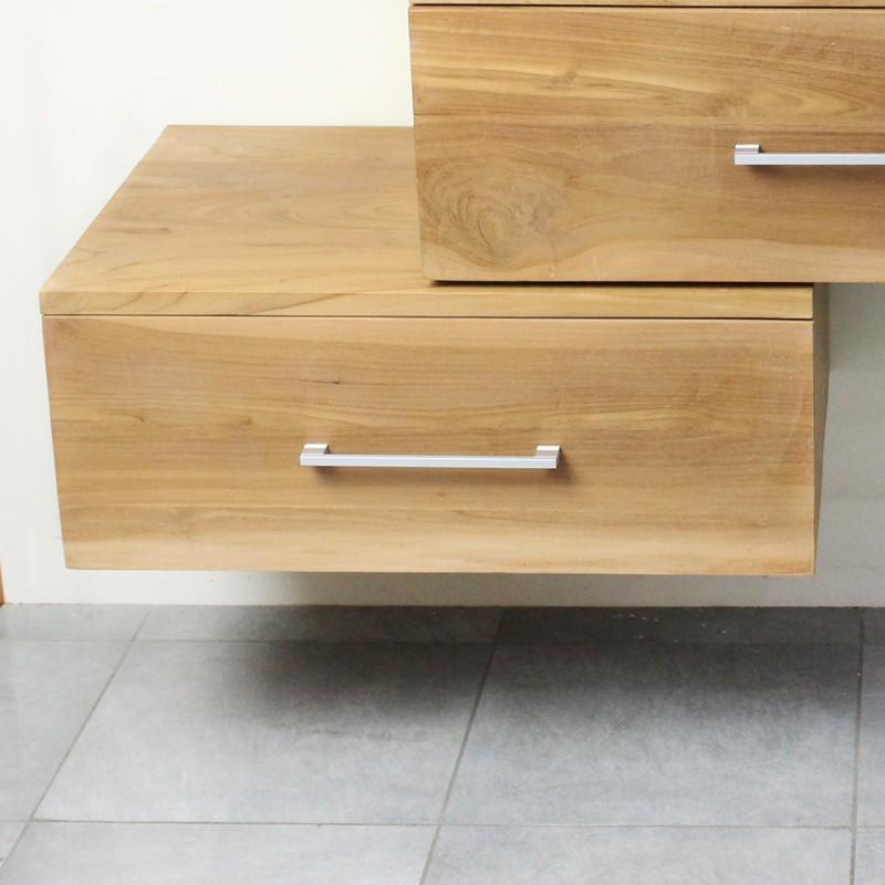 meuble suspendu sous vasque en teck 70 cm 18 760. Black Bedroom Furniture Sets. Home Design Ideas