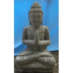 Bouddha assis 60 cm en pierre naturelle verte (SB60-07)