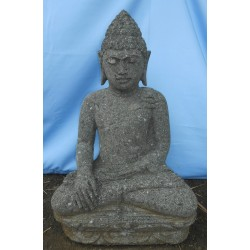 Statue bouddha assis en pierre naturelle verte (SB60-10)