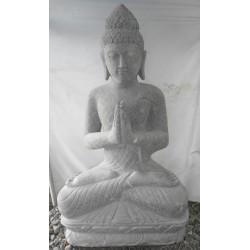 Bouddha assis 120 cm en pierre naturelle verte (SB120-01)