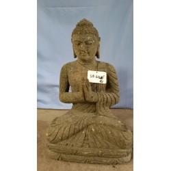 Bouddha assis 60 cm en pierre naturelle verte (SB60-21)