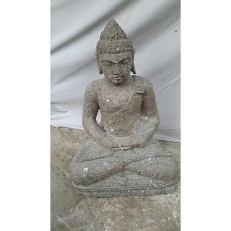 Bouddha assis 60 cm en pierre naturelle verte (SB60-22)