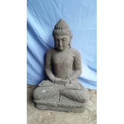 Bouddha assis 80 cm en pierre naturelle verte (SB80-20)