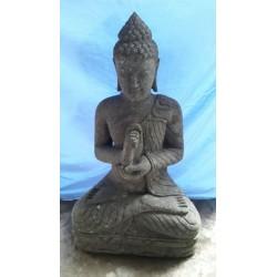 Bouddha assis 100 cm en pierre naturelle verte (SB100-01)