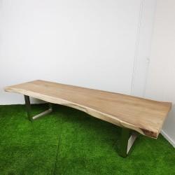 Table en bois de Suar 319 cm pieds inox (SUAR45-300)