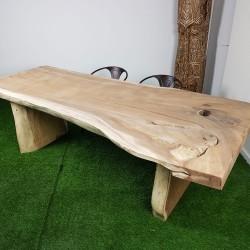 Table en bois de Suar 258cm pieds bois (SUAR57-250)